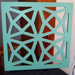 Teal wall decor / accent